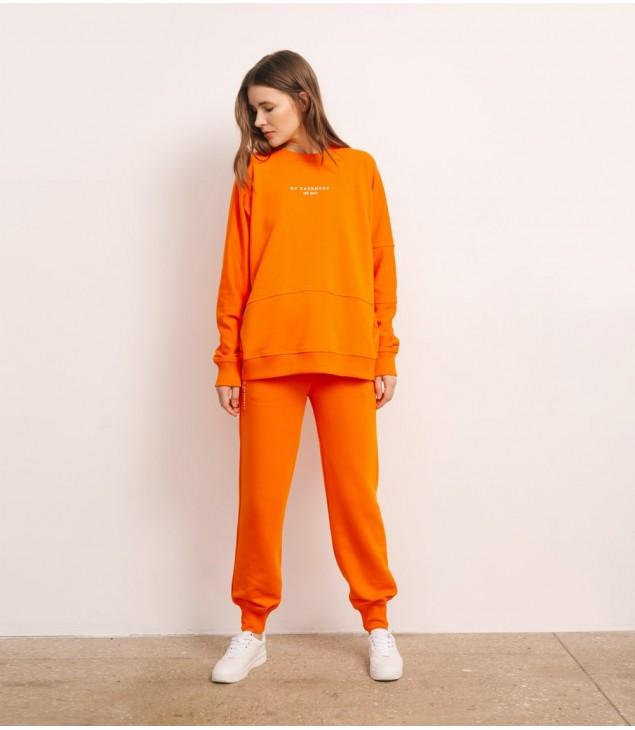 Свитшот хлопковый с Лого; апельсин