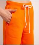 Шорты хлопковые с Лого; апельсин
