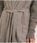 Кардиган кашемировый с рукавами люрекс; серый