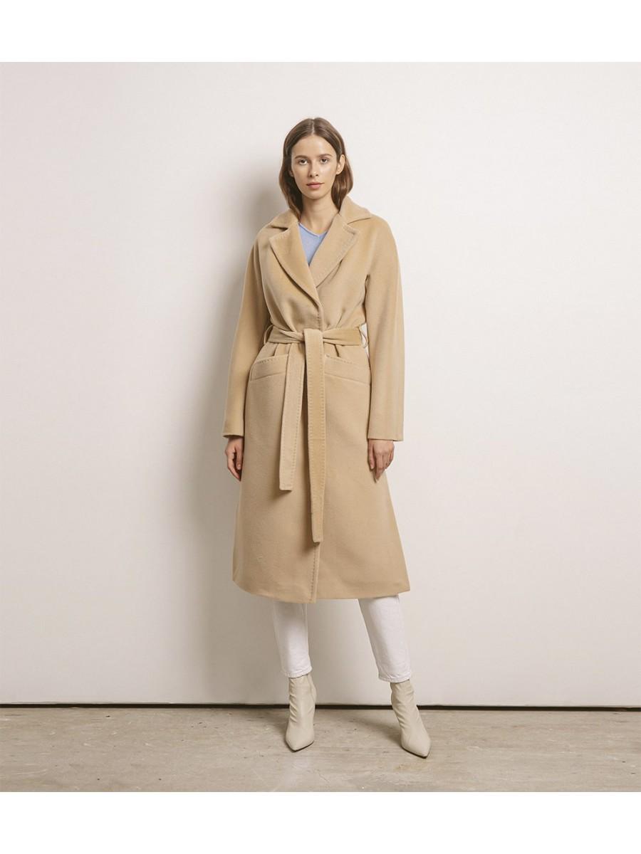 Пальто женское кашемировое; кэмел