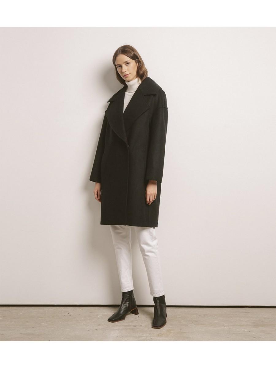Пальто женское кашемировое; чёрный