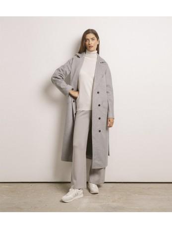 Пальто женское кашемировое; серое