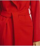 Пальто женское кашемировое; красное