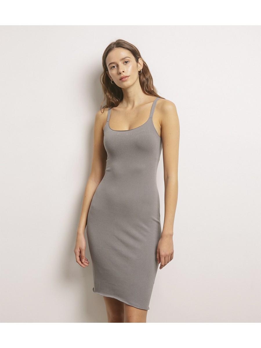 Платье-чехол; серый