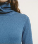 Платье-гольф 100% кашемир; темно-голубой