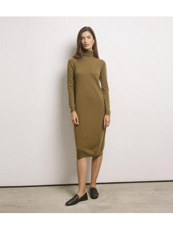 Платье-гольф 100% кашемир; олива