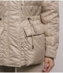 Куртка пуховик 100% натур гус. пух №20720003; пломбир