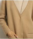 Жакет кашемировый с шалевым воротником в резинку; кэмел