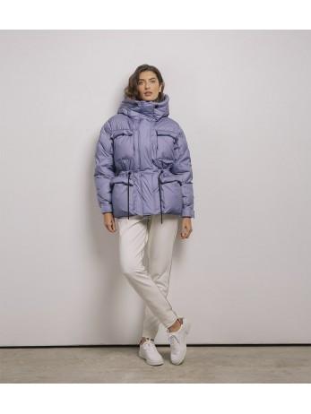 Куртка пуховик 100% натуральный гус. пух №02120036; лаванда
