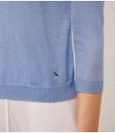 Джемпер кашемир и шёлк; голубой