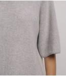 Джемпер кашемировый реглан свободный; светло-серый