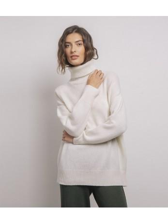 Джемпер Oversize кашемировый удлиненный; белый