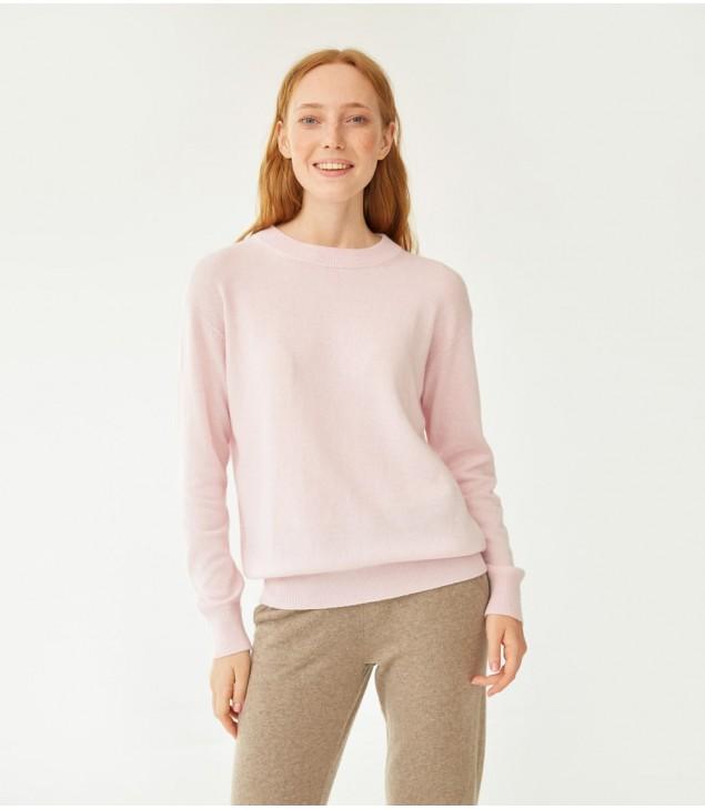 Джемпер кашемировый классика 22; розовый