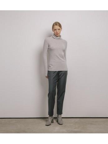 Джемпер кашемировый с хомутом 2021; светло-серый