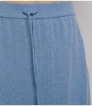 Юбка кашемировая на завязках; темно-голубой