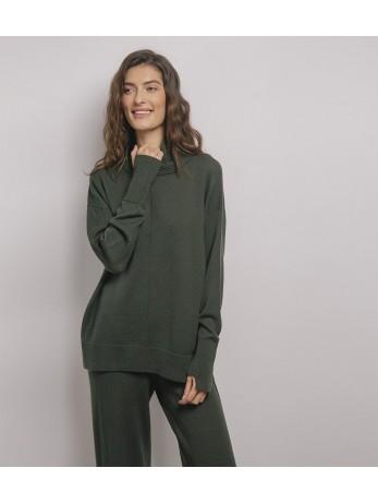 Джемпер шерстяной Verde; темная олива