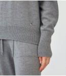 Джемпер мериносовый с хомутом плотный; серый