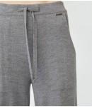 Брюки мериносовые прямые с карманами; серый