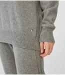 Джемпер 100% премиальный кашемир с полукапюшоном; серый