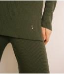 Джемпер мериносовый в рубчик; олива new color