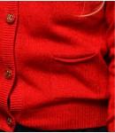 Кардиган кашемир детский; красный