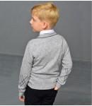 Кардиган кашемир детский; серый
