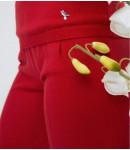 Брюки mini; красный