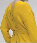 Кардиган maxi; лимонный