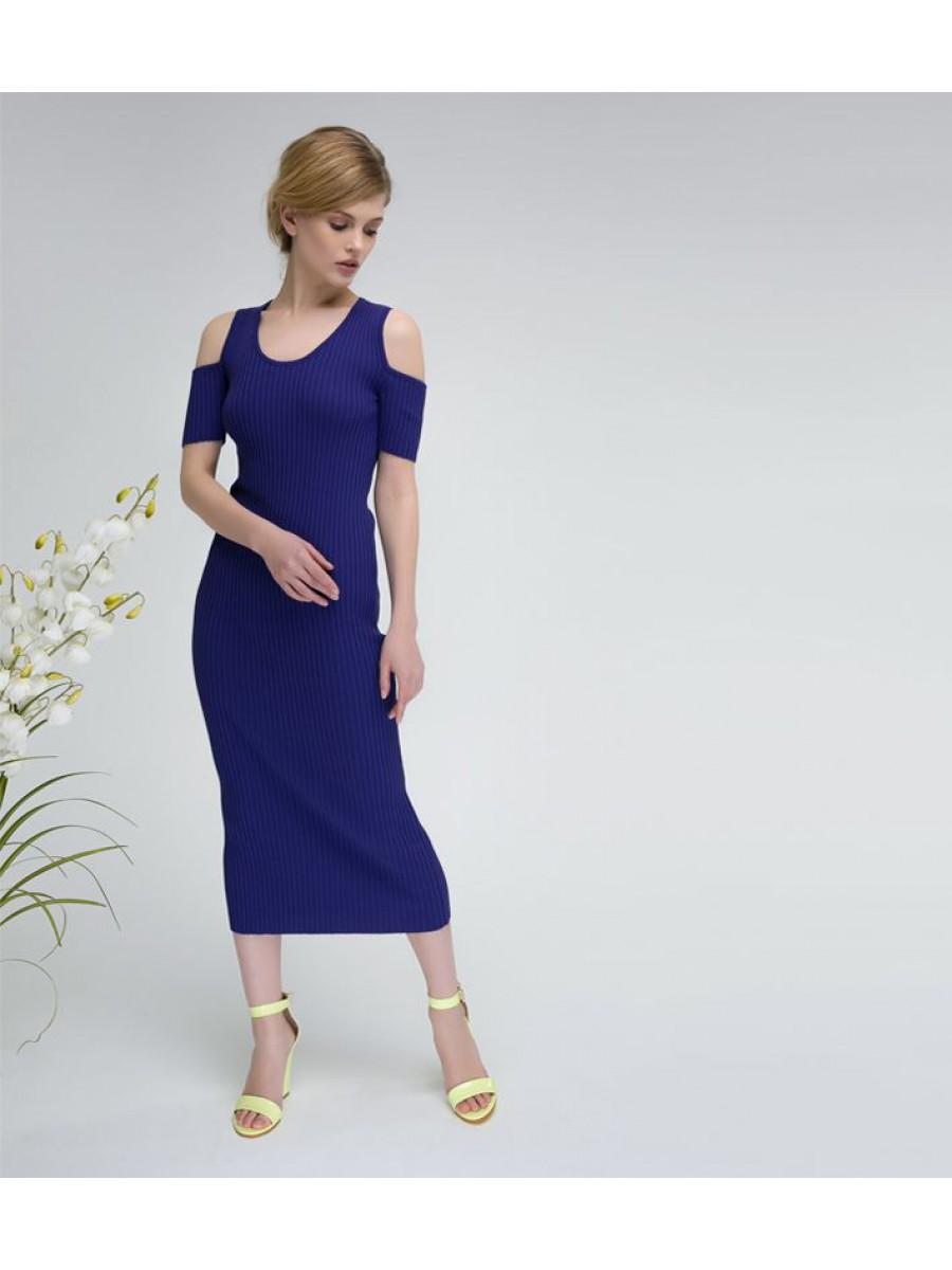 Платье стрейч; фиолет