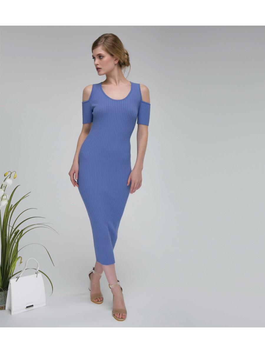 Платье стрейч; лаванда