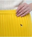 Юбка-плиссе mini; лимонный