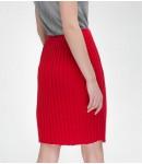 Юбка-плиссе mini; красный