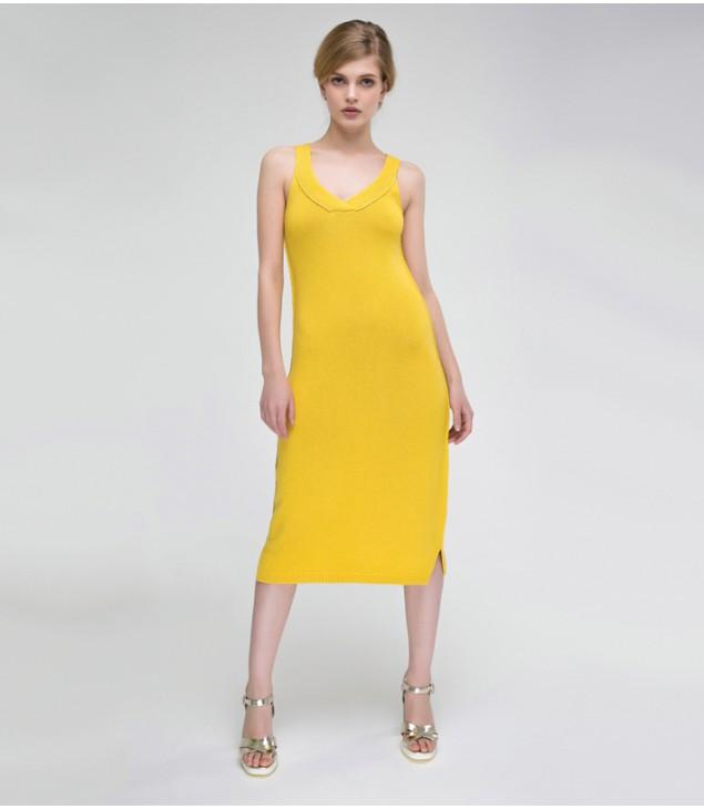 Платье Estate; лимонный