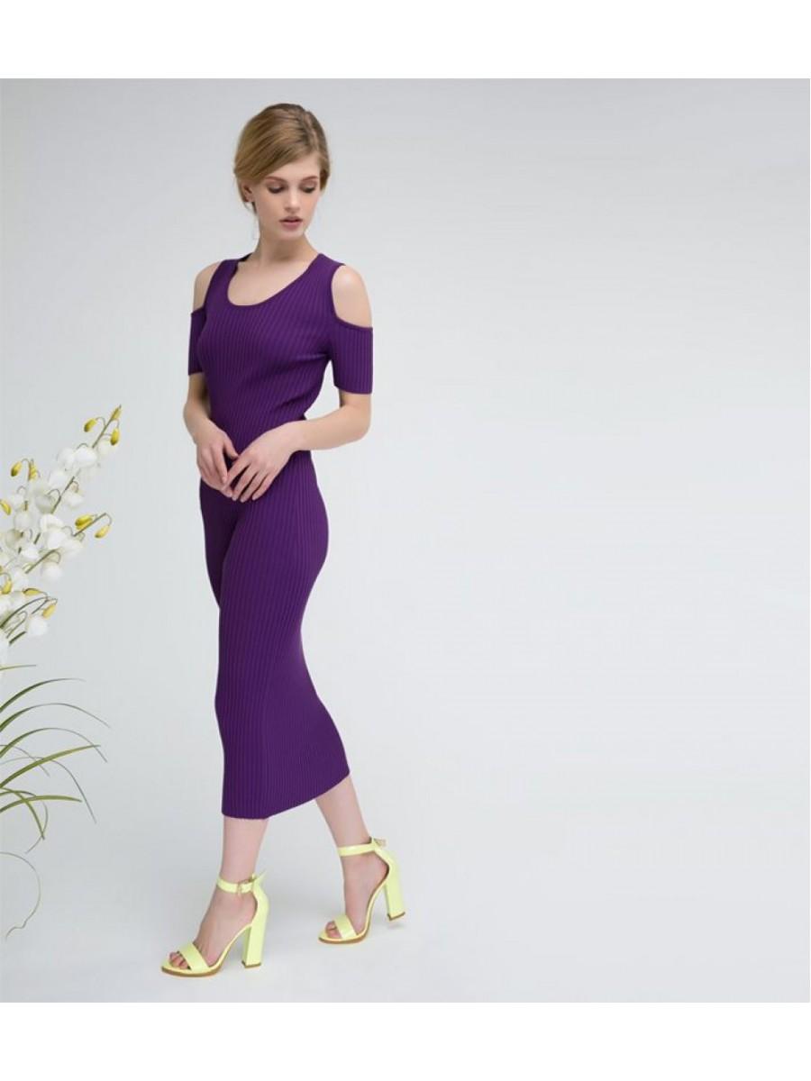 Платье стрейч; сирень