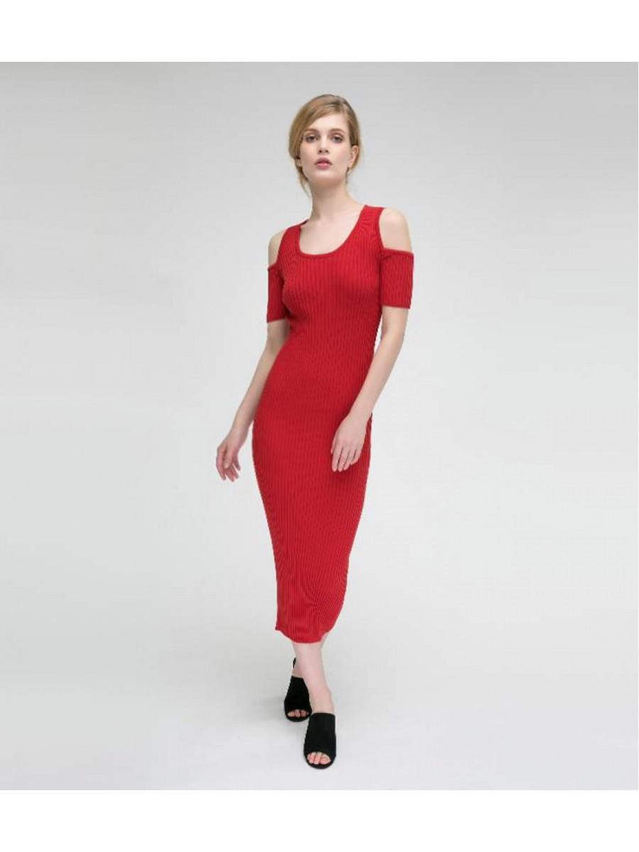 Платье стрейч; красный