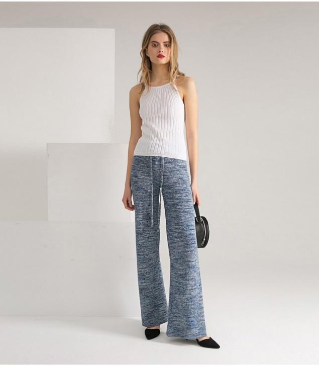 Брюки Silk; джинс меланж