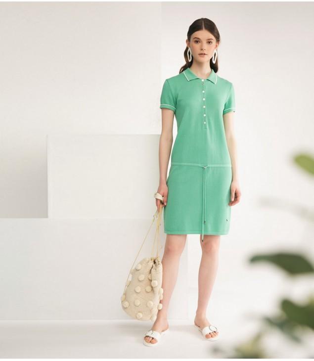 Платье-поло; мятный