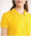 Платье-поло; лимонный