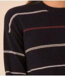 Джемпер кашемировый в полоску; синий