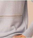 Гольф кашемировый украшенный цепочкой; голубой