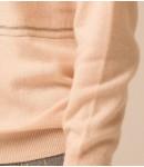 Гольф кашемировый украшенный цепочкой; кремовый