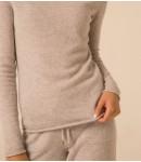 Джемпер кашемировый с хомутом 2020; светло-серый