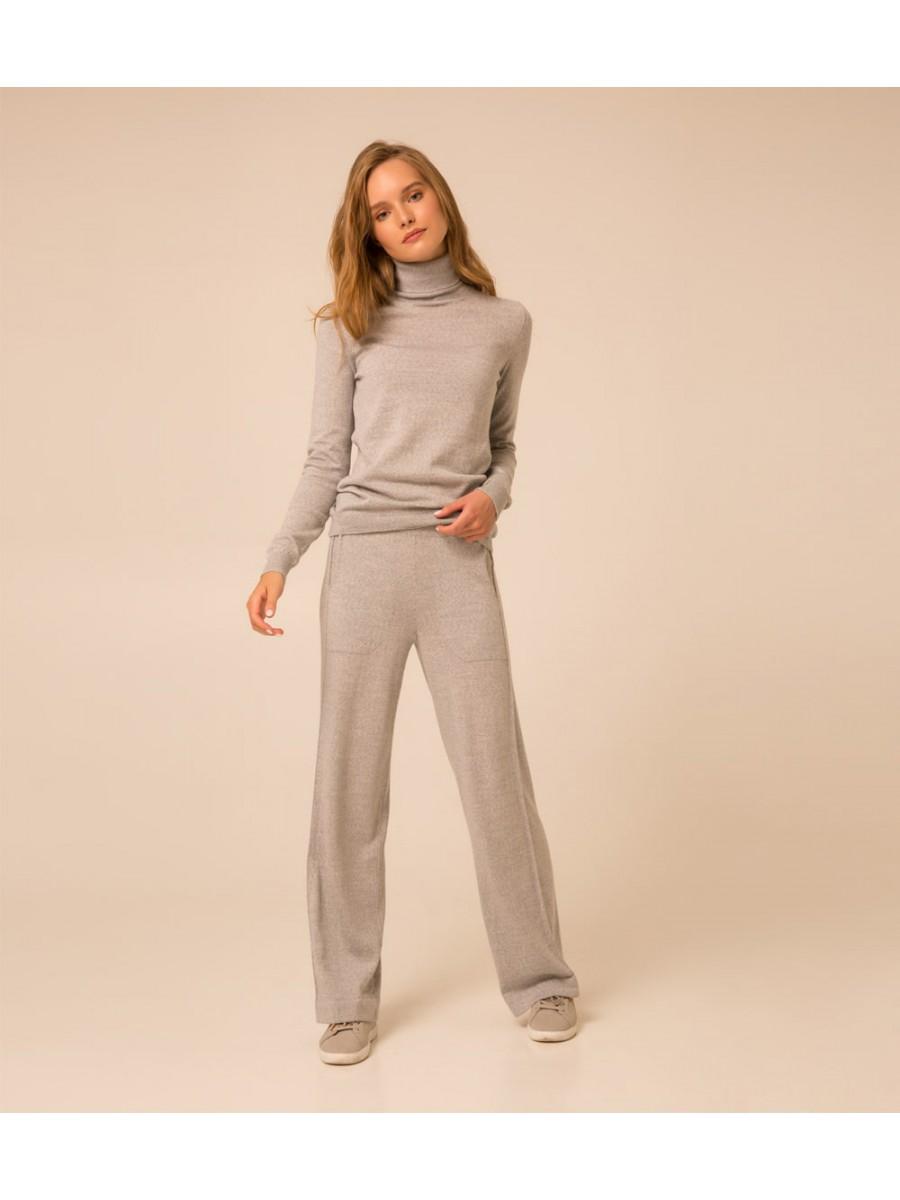 Гольф Merino Extrafine wool; серый меланж