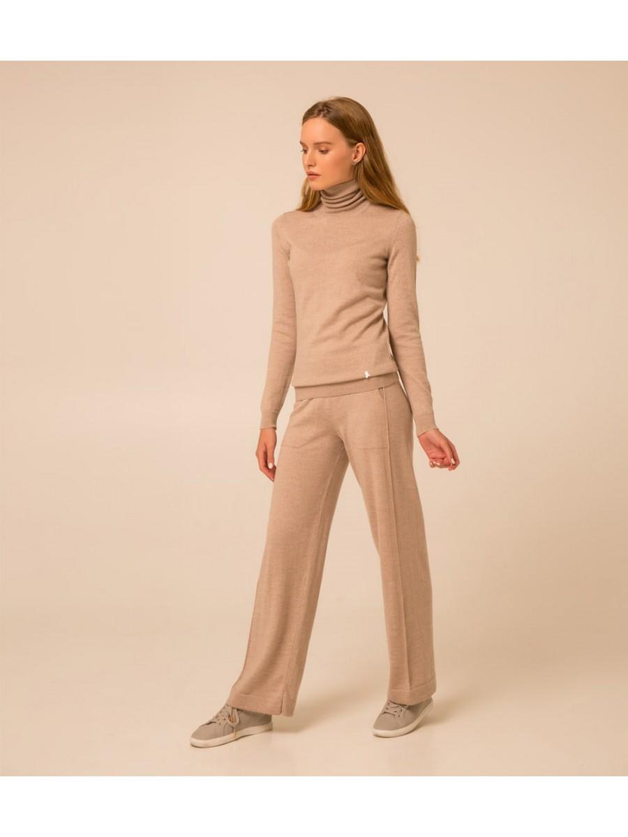 Гольф Merino Extrafine wool; светлый тауп меланж