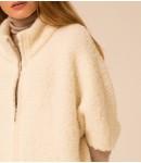 Кардиган с шерсти ламы и Альпаки; молочный