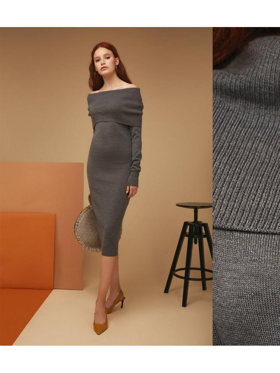 Платье Merino comfort; графит
