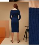 Платье Merino comfort; индиго