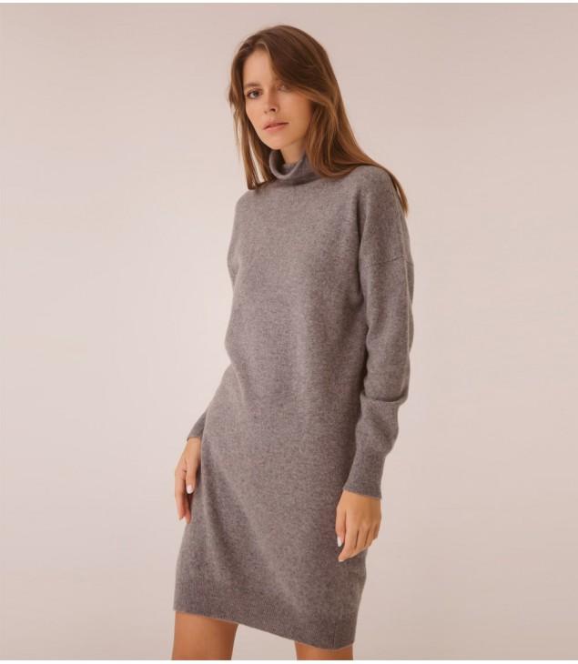 Платье кашемировое, 100% кашемир; темно-серый