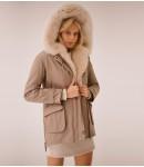 Куртка женская Парка, песец; бежевый