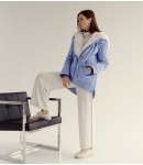 Куртка женская парка; голубой